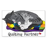 Quilting Partner Sticker (Rectangle 10 pk)
