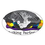 Quilting Partner Sticker (Oval 50 pk)