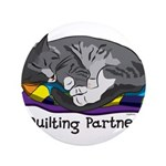 """Quilting Partner 3.5"""" Button"""