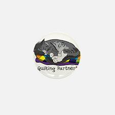 Quilting Partner Mini Button