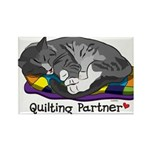 Quilting Partner Rectangle Magnet (10 pack)