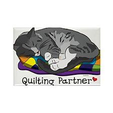 Quilting Partner Rectangle Magnet