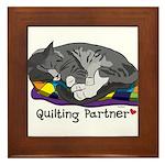 Quilting Partner Framed Tile