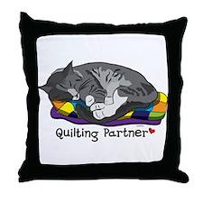Quilting Partner Throw Pillow
