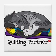 Quilting Partner Tile Coaster
