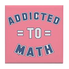 Addicted to Math Tile Coaster
