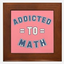 Addicted to Math Framed Tile