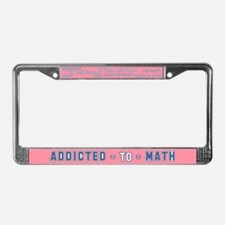 Addicted to Math License Plate Frame