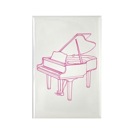 Pink Piano Rectangle Magnet