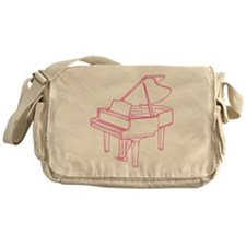 Pink Piano Messenger Bag