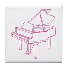 Pink Piano Tile Coaster