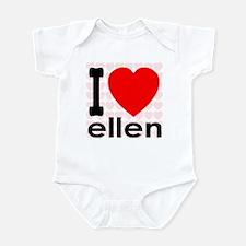 I Love ellen Infant Bodysuit