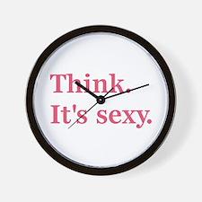 Think. It's Sexy. Wall Clock