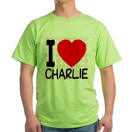 I Love Charlie Green T-Shirt