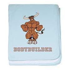Bodybuilder baby blanket