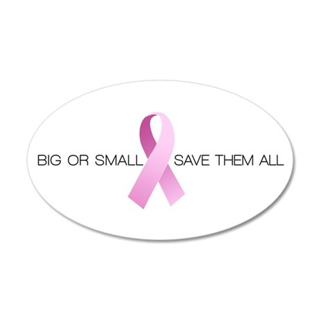Big or Small Save them All 22x14 Oval Wall Peel