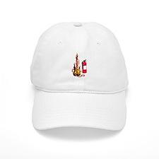 Flaming Guitar and Extinguisher Baseball Cap