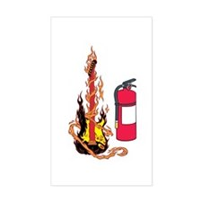 Flaming Guitar and Extinguisher Decal