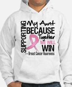 Support Aunt Breast Cancer Hoodie