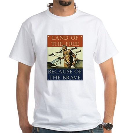 Land of the Free White T-Shirt