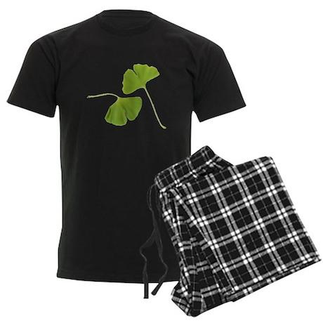 Ginkgo Biloba Leaves Men's Dark Pajamas