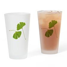 Ginkgo Biloba Leaves Drinking Glass