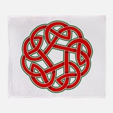 Celtic Christmas Knot Throw Blanket