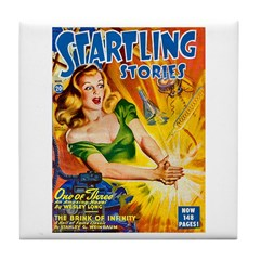 Science Fiction Woman Cover Tile Coaster