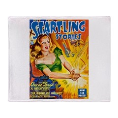 Science Fiction Woman Cover Throw Blanket