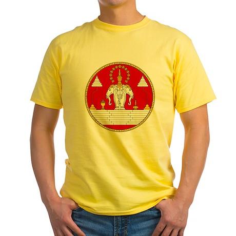 Laotian Royal Coat of Arms Yellow T-Shirt