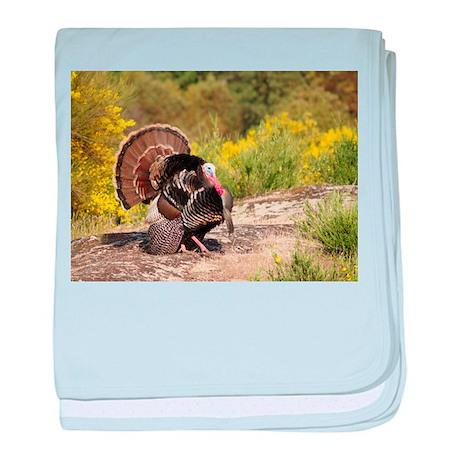 Wild Turkey Gobbler baby blanket
