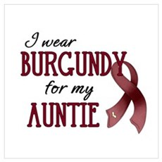 Wear Burgundy - Auntie Framed Print