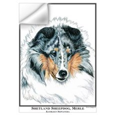 Blue Merle Shetland Sheepdog Wall Decal