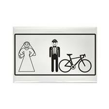 Bike Widow Rectangle Magnet
