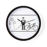 Bike Widow Wall Clock
