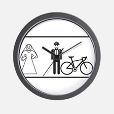 Bike Widow Wall Clock