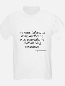 Benjamin Franklin quote 173 Kids T-Shirt