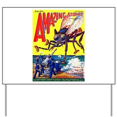 Amazing Giant Fly Cover Art Yard Sign