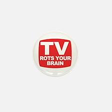 TV Rots Your Brain - Mini Button (10 pack)