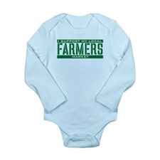 I Support My Local Farmers Market Long Sleeve Infa