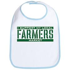 I Support My Local Farmers Market Bib