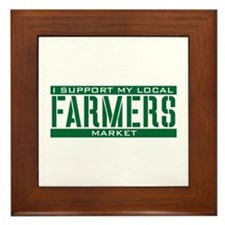 I Support My Local Farmers Market Framed Tile