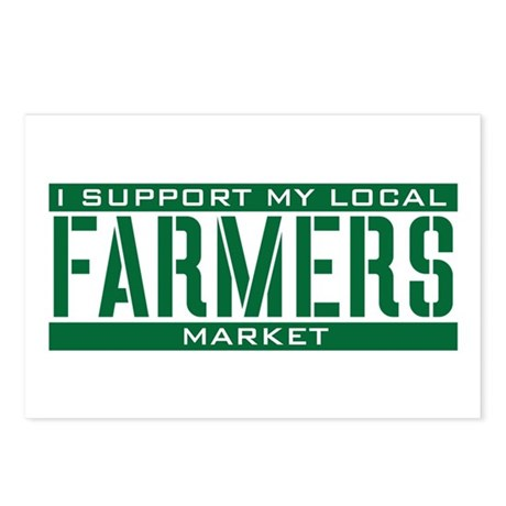 I Support My Local Farmers Market Postcards (Packa
