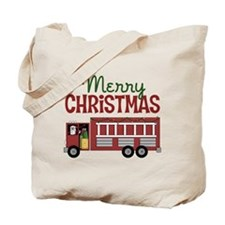 Firefighter Christmas Tote Bag