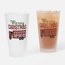 Firefighter Christmas Drinking Glass
