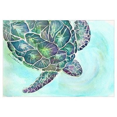 Sea Turtle 11 x 17 Print Poster