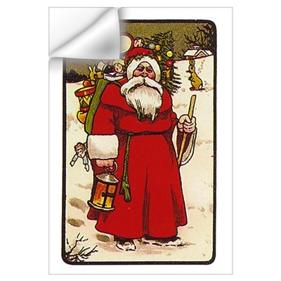 Cartoon Santa Wall Decal