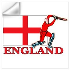 English Cricket Player Wall Decal