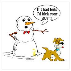 Snowman Joke Poster