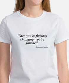 Benjamin Franklin quote 183 Women's T-Shirt